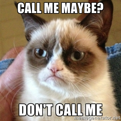call me maybe, grumpy cat, don't call me